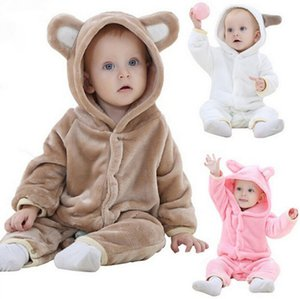 0-24 months Baby clothes INS explosion children's clothe autumn flannel teddy bear animal modeling climbing clothes baby conjoined clothes