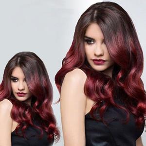 Colored Ombre 브라질 버진 헤어 위브 번들 2 톤 1B / 99J 부르고뉴 브라질 바디 웨이브 Human Hair Extensions 4Pieces / Lot