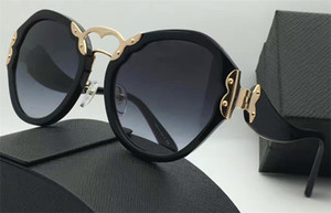 The latest fashion women sunglasses Retro round frame Special design style top quality uv400 protection eyewear with original box 09T