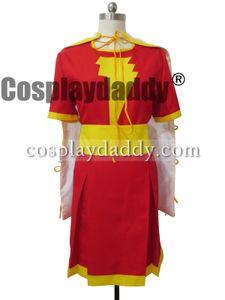 Captain Marvel Cosplay Mary Marvel Heroine Schal Kleid Kostüm