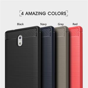 Fibra de carbono del caso para Nokia 3 5 6 armadura del caso de la cubierta a prueba de golpes Ultra delgada TPU teléfono con la nave libre