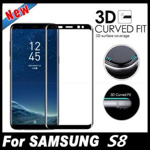 Para galaxy note 9 8 s8 mais s9 s7 borda S6 0.2 MM 3D Full Screen Cover lado curvo vidro temperado com pacote