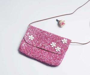 2017 Fashion Girl Flora perla decorazione paillettes croce corpo borse mix size = 11 * 16cm di colore