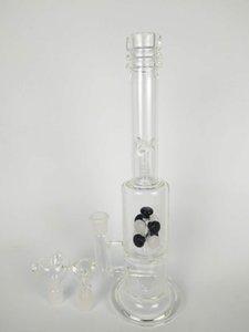 Bongs en verre filtre en verre noir et tubes de verre, 13 pouces de hauteur, soit 18 mm