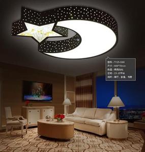 Çocuk lamba Yıldız Ay LED Tavan Işık Yaratıcı kişilik Erkek / Kız Yatak Odası Tavan Romantik Kristal LED tavan lambaları