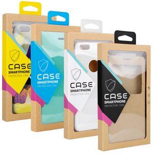 Universal Fashion boîte d'emballage générique de détail pour iPhone 11 PRO XS max XR X 6S 7 8 plus étui de téléphone cellulaire boîte de papier kraft couverture de téléphone d'emballage