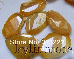 40x55mm grande agate pierre jaune perles bricolage