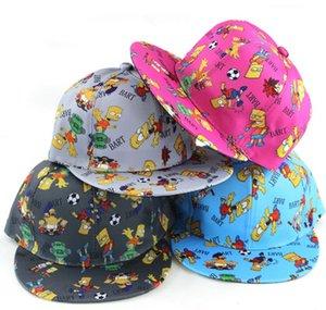 Hotsale Children Cartoon Soccer Football Boy Kids MEME HIP HOP Base Ball Boy Girl Caps Hip Hop Tamaño Ajustable Gorras sombreros 20PCS Envío gratis