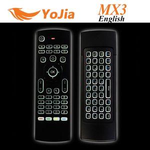 10pcs X8 Hava Fly Fare MX3 2.4GHz Kablosuz Klavye Android TV Box için Mic olmadan Uzaktan Kumanda Somatosensoriyel IR Öğrenme 6 Eksen