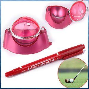 Golf Ball gros- Red Line Liner Marker Pen Marques Modèle Outil d'alignement Set équipement Accessoires en gros
