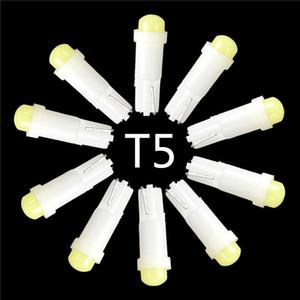 10pcs / lot T5 0.2W 1 SMD 주도 세라믹 자동차 자동 사이드 웨지 게이지 대시 보드 악기 조명 램프 전구 DC12V