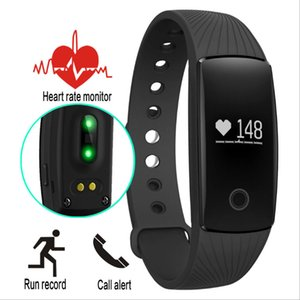 ID107 Smart Bracelet Watch Heart Rate Monitor Wristband Bangle Smartband Fitness Tracker Sports Wristbands For Android iOS Smartphone