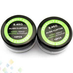 Prebuilt чужеродные сопротивление катушки 0.45 ohm 0.3*0.8+32GA сопротивление провода инопланетные электронные сигареты продается PC DHL бесплатно