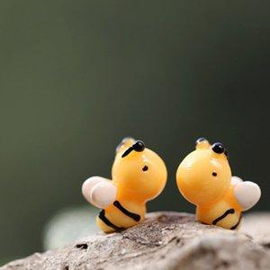 2017 nueva musgo micro - pequeña abeja de resina de montaje de bricolaje paisaje historieta de la joyería pequeños adornos juguetes el envío libre