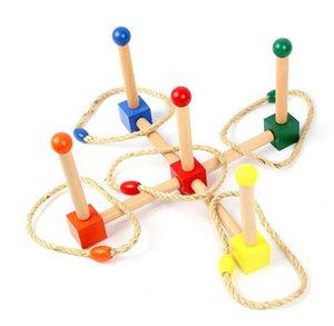New Baby Montessori Lancio del cerchio Aumentare la coordinazione delle mani e degli occhi Formazione per la prima infanzia Formazione per l'apprendimento della scuola materna