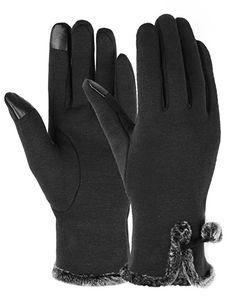 Gants Écran Tactile Femmes Hiver Épais Chaud Doublé Smart Texting Gants Polaire Coupe-Vent Gants D'hiver Au Chaud Porter HJ133