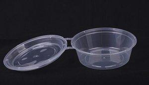 Armazenamento de Alimentos descartável 900ml plástico Recipiente Tigela para refeições Sopa Salada de Frutas Titular Recipiente Tigela