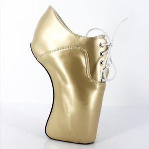 2017 or femmes pompes plate-forme ballet chaussures à talons hauts SM Queen en cuir verni grande taille hommes costume à talons plus la taille chaussures de mode