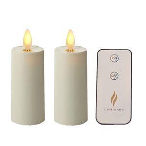 """1,75 """"X 3"""" Набор свечей Luminara для 2 свечей из слоновой кости с таймером"""