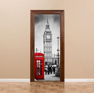 3D DIY Lundon Big ben 77 cm * 200 cm PVC Kapı çıkartmalar / Yapıştırıcı ve çıkarılabilir Duvar Çıkartmaları Duvar Çıkartması Mural Art Ev ...