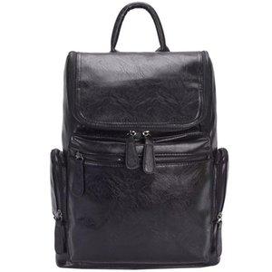 WESTAL 100% cuir véritable sac de voyage homme sacs à dos de voyage d'affaires décontractés