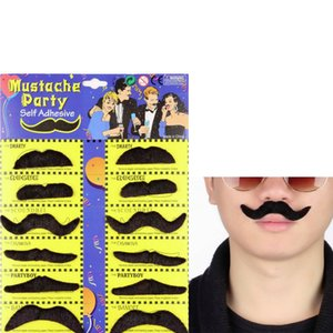 Hot Worldwide 6pcs 12pcs set Costume Party Halloween Fake Mustache Moustache Funny Fake Beard Whisker
