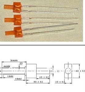 MIX Through Hole Tower 2mm LED Diode Red Green Blue Yellow Orange Color