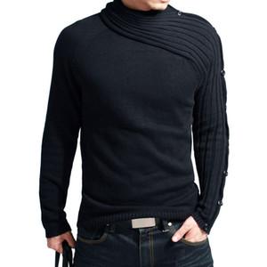 Wholesale-2016 neue Marke heißer Verkauf Mann Pullover gute Qualität Strickpullover kostenloser Versand Männer Strickwaren schwarz Rollkragen lxy333