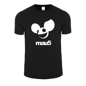 Atacado-2017 impressão Deadmau5 banda de rock com tamanho grande t-shirt dos homens casual descontraído