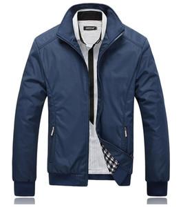 Sonbahar-Ceket Erkek Siyah Palto Casual Ceketler Erkek Windbreaker açık ceket jaqueta masculina veste homme giyim Artı boyutu M-5XL