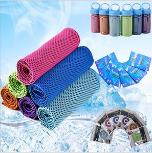 100 * 30cm double couche de glace froide serviette de refroidissement d'été Sunstroke Sport Exercice Quick Cool sec doux respirant serviette de refroidissement pour les enfants adultes