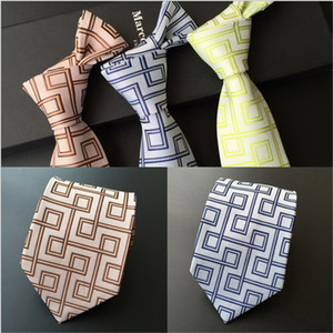 Men's business administration tie polyester silk arrow head jacquard geometric striped tie men