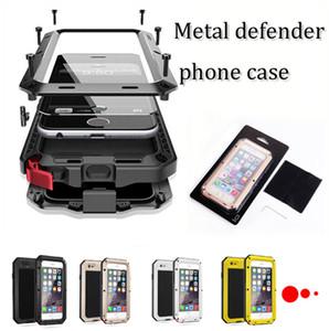 De metal para el iPhone 12 11xs máximo Huawei p30 compañero de 30 Nota 20 S10 S9 PLUS de metal templado caso impermeable de la cubierta de vidrio a prueba de golpes