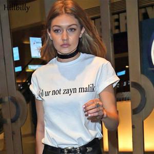 Lol Ur Nicht Zayn Malik Frauen T-shirt Sommer Buchstaben Druck Tops Mode Shirt 100% Baumwolle