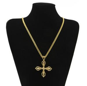 Collana con pendente in oro placcato oro Karma-vajra Collana Vajra indiana