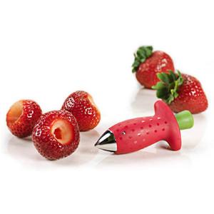 Red Strawberry Huller Strawberry Top Blatt Entferner Gadget Tomate Stiele Obstmesser Stem Remover Tragbare Küche Werkzeug