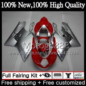 MV 용 바디 Agusta F4 05 06 R312 750S 1000 R 750 1000CC 13PG14 1000R 312 빨간색 은색 1078 1 + 1 MA MV F4 2005 2006 05 06 페어링 차체