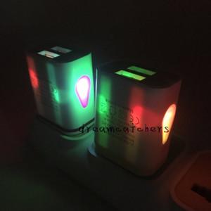 Water-drop LED освещение Dual USB зарядное устройство 5V 3.1 A ЕС США Plug путешествия удобный адаптер питания для iphone 7 6s Samsung S7 edge ipad