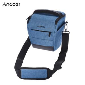 Andoer saco da câmera dslr elegante poliéster ombro caso da câmera para 1 câmera 1 lente e acessórios para canon nikon sony