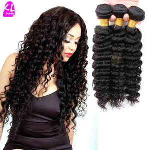 Wholesale-Free Shipping Brazilian Virgin Hair Deep Wave 8A Grade Unprocessed Human Hair Deep Wave Virgin Hair Weave 3 Bundles/Lot Hot Sale