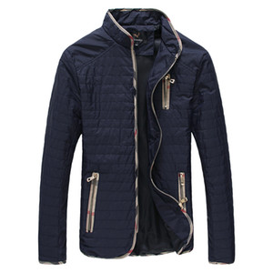 Wholesale- Mens giacca primavera autunno cappotti di grandi dimensioni 4Xl 5XL 6XL 7XL nero outwear blu scuro abiti maschili nuovo 2016 moda casual sottile imbottito