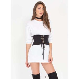 2017 New Fashion Womens Ladies Up Tie Up Eyelet Vita alta Denim Cinturino Corsetto Top Belt 4 Taglia