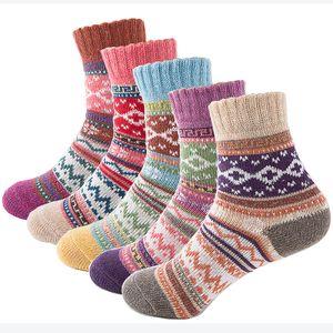 Toptan-Sonbahar Kış Kalın Sıcak Bayan Çorap Güzel Tatlı Klasik Renkli Çok Desenli Yün Karışımları Edebiyat Sanat Tarzı Kaşmir Çorap