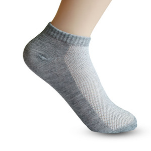 Homens Socks Marca Qualidade Polyester Casual respirável 3 cores puras Meias Calcetines malha curto de barco meias de homens