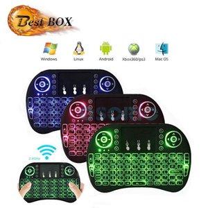 Çok renkli Aydınlatmalı Rii I8 2.4 GHz Kablosuz Fly Fare Mini klavyeler Oyunu El MXQ X96 T95 Android Kutuları Mini PC için Uzaktan Kumanda