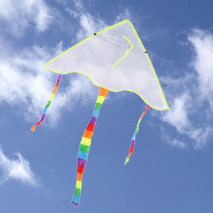 DIY Kite Pintura Cometa sin Manija Línea Juguetes al aire libre Flying Papalote Toy a Kite nylon tejido ripstop Deporte Parachute Gam al aire libre