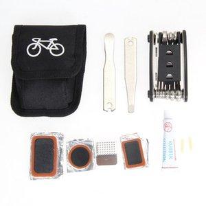 1x Kit de herramientas de reparación de bicicletas Biycle Cycling Puncture Bike Conjunto de herramientas de reparación de herramientas múltiples con bolsa