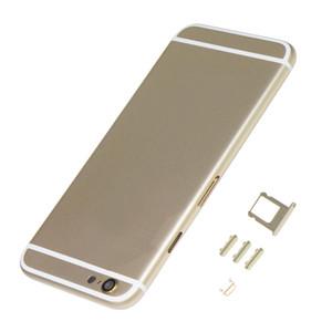 Reemplazo de alta calidad hacia atrás la cubierta del capítulo de caso de la batería cubierta trasera para el iPhone 6 - Oro blanco negro del oro de Rose Envío libre