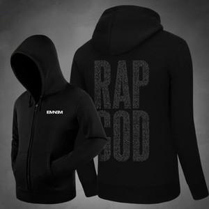 2019 Nouveau Rap Dieu Dieu Eminem Hoodies Polaire Zip Up Cardigans Mens Hiphop Rappeur À Capuche Streetwear Hoody Livraison Gratuite