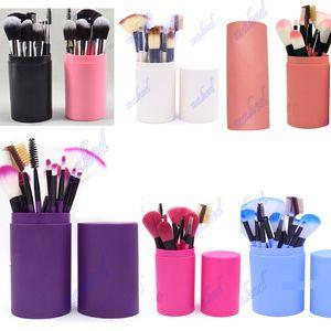 пластиковый держатель чашки 12 шт. кисти для макияжа safty way пыльный плата пакет 12 функция кисти для теней для век, губная помада, fondation бесплатный заказ OEM